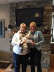 Cheryl-Ann Lovie of the Comfort Guy donating $400 cheque